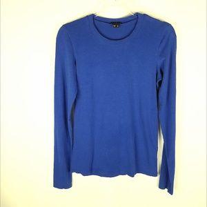 Theory long sleeve pretty blue tshirt size Large